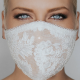Bride with coronavirus mask